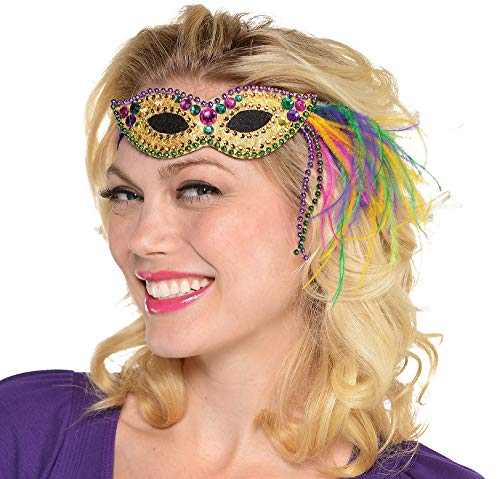 Mardi Gras Party Mask Headband, 2