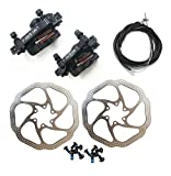 BlueSunshine HS1 Bike Disc Brake Kit - Mountain Bicycle Bike Mechanical Front and Rear 160mm Caliper Rotor BB5 BB7 Whit Bolts and Cable (BB7)