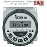 Frontier TM619H2 Digital Timer Programmable Time Switch with LCD 4 Pin