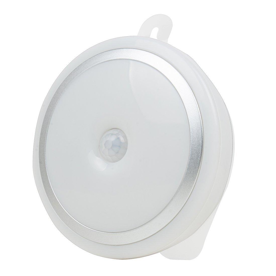Sensor de movimiento eDealMax luz de la noche portátil con pilas 5 LED de seguridad inalámbrica de detección de noche de la lámpara de Pasillo Escaleras ...
