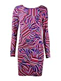 Trina Trina Turk Women's Lewis Rainbow Floral Matte Jersey Long Sleeve Dress, Multi, Small