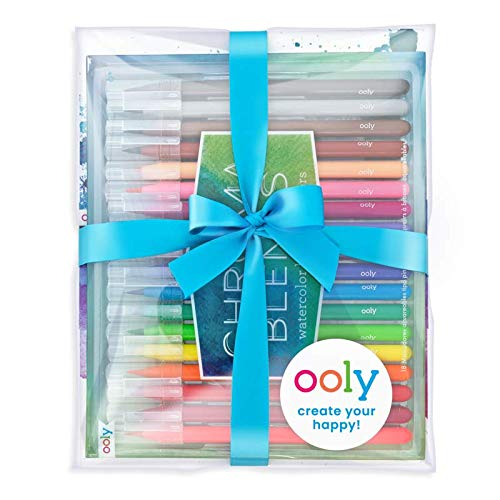 Watercolor Paper Pad Chroma Blends Creative Sketch Giftables Pack Ooly Happy Pack Watercolor Brush Pens