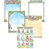 Creative Teaching Press Wall Chart Safari Friends Classroom Essentials 5-Chart Pack, Ctp 2251 with
