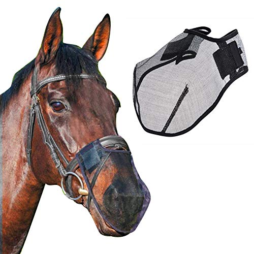 (Horse Fly Mask Professional Equestrian Horse Nose Cover Safety Nose Face Protection Cover Horse Mouth Protector)