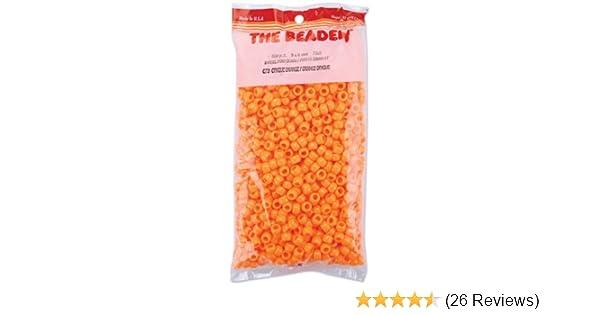 Orange 900 Piece The Beadery 750V070 6 by 9mm Barrel Pony Bead