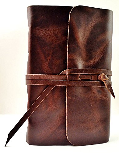 Leather Writing Journal with Strap closure