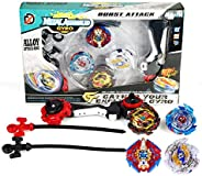 Battling Top Bey Combat Gyro Burst Toys Blade for Kids Children Teens Gifts Birthday, Battling Tops x4; 5-8 Sh