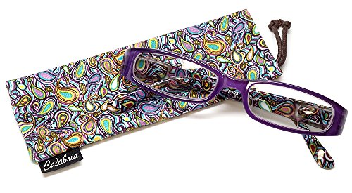 Calabria 735 Reading Glasses w/Matching Case in Purple +0.75