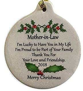 laurie g creations mother in law porcelain 2018 porcelain ornament gift boxed rhinestone mom