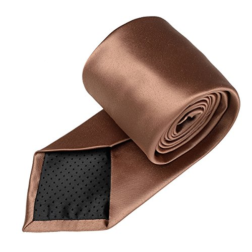 in Ties Work Brown Classic Formal Pure Color Satin for Party light 22 Colors Neckties Wedding Polyester Men 18 Solid Plain Neck Zqf6Pwwd