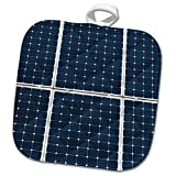 3dRose Alexis Photography - Objects - Image of solar power panel. Dark blue cells white grid - 8x8 Potholder (phl_264065_1)