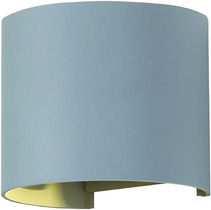 V TAC VT 756 Aplique de pared para exterior Grey E27 LED 6 W A++ Iluminación al aire libre (Aplique de pared para exterior, Grey, Aluminio, IP65,
