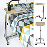 Rxlife Rolling Laptop Desk Adjustable Height Over bed Table Multi-Purpose Portable Computer Desk Bed Sofa Side Table with Wheels
