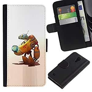 ZCell / Samsung Galaxy S4 IV I9500 / Robot Alien Cat Space Ship Fish Bowl Art / Caso Shell Armor Funda Case Cover Wallet / Robot Extraterrestre g