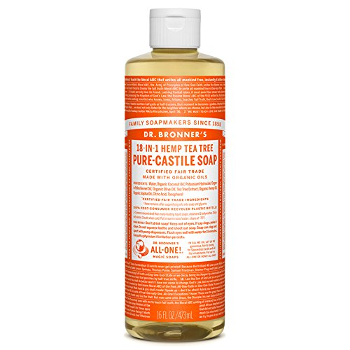 Dr. Bronner's Magic Soaps 18-in-1 Hemp Pure Castile Soaps Tea Tree 16 fl. oz.