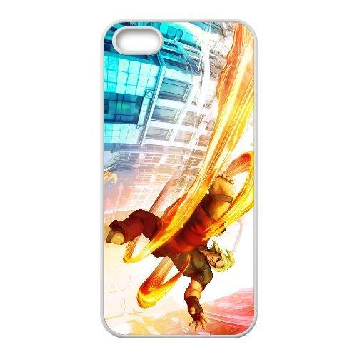 Street Fighter V 6 coque iPhone 5 5s cellulaire cas coque de téléphone cas blanche couverture de téléphone portable EEECBCAAN03167