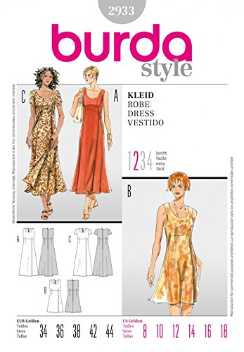 Burda Craft Sewing Pattern 2933 - Dress Sizes: One Size: Amazon.co ...