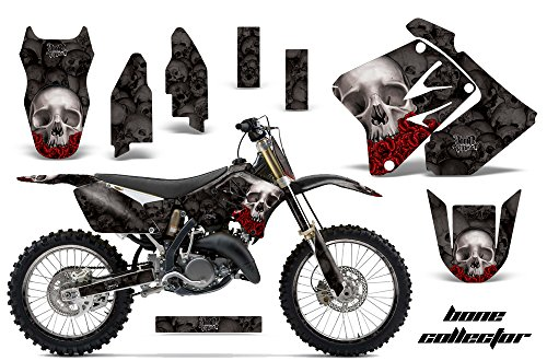 AMR Racing Graphics Kit for MX Suzuki RM250 2001-2009 WITH NUMBER PLATES BONE COLLECTOR BLACK