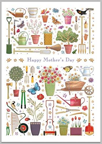 Tarjeta de día de la madre - jardinería: Amazon.es: Oficina ...
