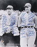 Babe Ruth & Lou Gehrig New York Yankees 16x20 Photo Signed by (40) with Al Downing, Bobby Shantz, Joe Pepitone, Bobby Richardson (MAB)