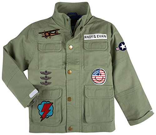 Toddler Military Jacket Andy amp; Patchwork Light Boys' Green Evan wxBxOYqt