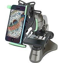 Carson Beginner 40x-400x Compound Student Microscope with Universal Smartphone Optics Digiscoping Adapter (MS-040UN)