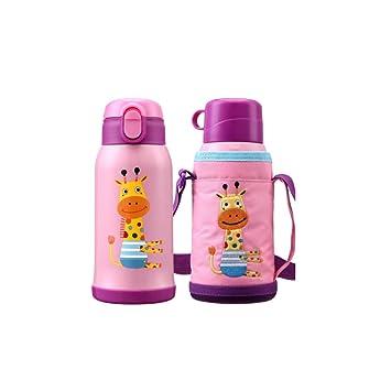 Muziwenju Botella de Agua, Taza de Viaje para niños, Acero ...