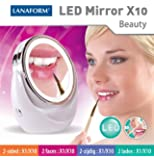 Lanaform Miroir grossissant x 10 avec LED