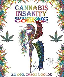 Cannabis Fantasy Coloring Book - Worksheet & Coloring Pages