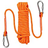 AOSExpert Outdoor Climbing Rope, High Strength Cord Safety Rope, Static Rock Climbing Rope, Fire Escape Safety Rappelling Rope. 10mm Diameter