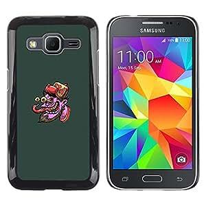 LECELL--Funda protectora / Cubierta / Piel For Samsung Galaxy Core Prime -- Pulpo púrpura Cara - Pop Art --