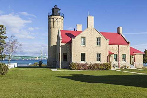 Old Mackinac Point Light - City Place Lighthouse Michigan