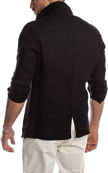 Amazon.com: Paster Blazer - Traje de lino para hombre ...