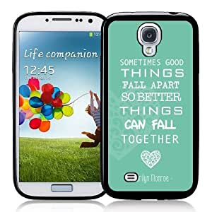 Galaxy S4 Case - S IV Case - Marilyn Monroe Quote Love Turquoise Samsung Galaxy i9500 Case Snap On Case