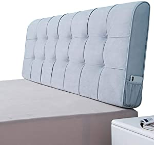 DNN RLQ Reading pad, Triangle Big Wedge Pillow, Headboard Head Cushion, Reading Pillow, Upholstered Wedge, Headboard Pillow (Color : Gray, Size : 1501058cm)