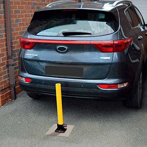 Oklead Folding Parking Lock - 2 pcs Parking Post Fold Down Post Barrier Steel Security Park Sign for Home Driveways Reserved Flexible by Oklead (Image #1)
