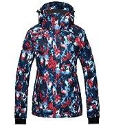 Wantdo Women's Waterproof Ski Jacket Outdoor Windproof Sports Coat Colourful Winter Snow Coats Mo...