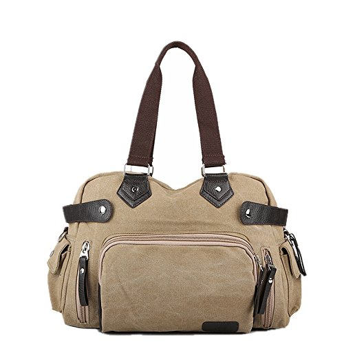 Casual Work Business Khaki For Purse Bag Canvas Man Messenger Unisex Bags Men's Crossbody Khaki Travel color Wenjack Shoulder 5qw6O7H