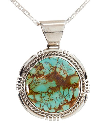 Royston Turquoise Pendant (Navajo Native American Royston Mine Turquoise Pendant by Freddy Charley with)