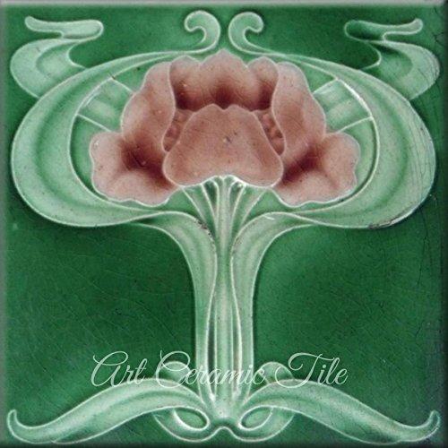 - Art Nouveau Ceramic Tile 6 Inches Reproducction #000002