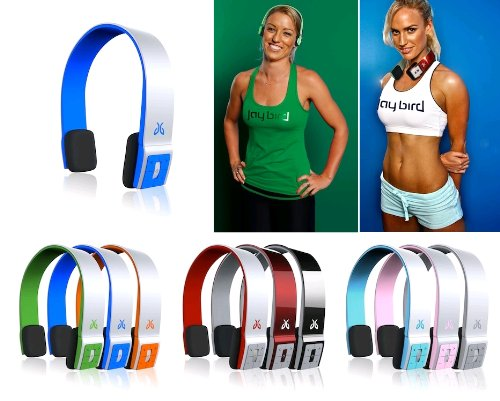 Sportsband Bluetooth Cordless Headphones (Sonic Blue, Music, Calls, Skype, Coach)