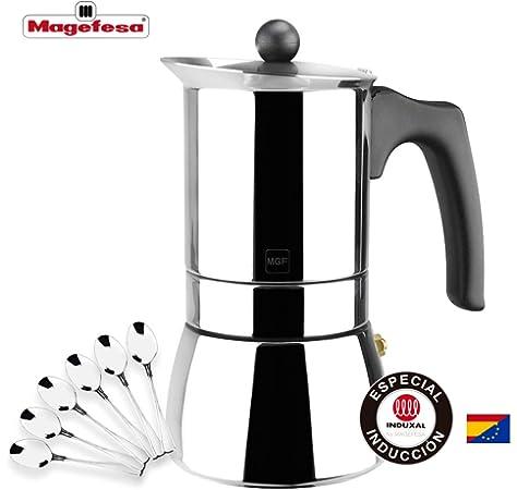Ilsa 6209 Cafetera Expresso inox Bonkaffe para 9 tazas, Acero ...