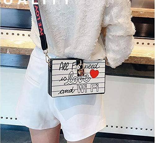 韓国トレンドショルダーバッグボックスバッグファッション人格レターショルダーバッグ 実用的 (色 : English alphabet)