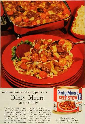 1957-ad-geo-a-hormel-co-dinty-moore-beef-stew-meal-canned-food-products-noodles-original-print-ad