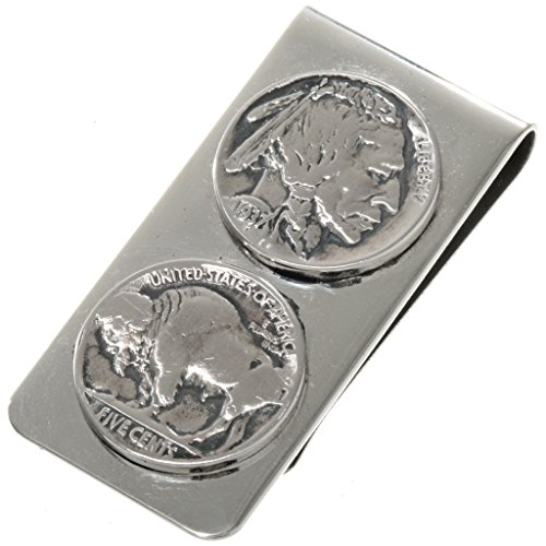Navajo Dated Coin Money Clip Real Buffalo Indian Head Nickels by Alltribes