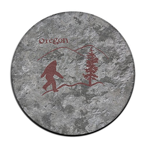 Ideas Bigfoot Costume (Oregon Bigfoot Sasquatch Great Gift Idea Round Non Slip Doormat Fashions Graphic-Print Commemorative Edition Entrance)