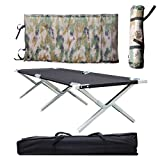 Camping Cot Folding Portable Tent Bed Military Grade...