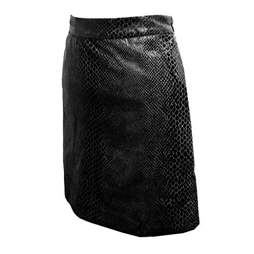Embossed Shiny Snake - Monterey Club Ladies Snake Skin Embossed Print Skort #4802 (Black, Large)