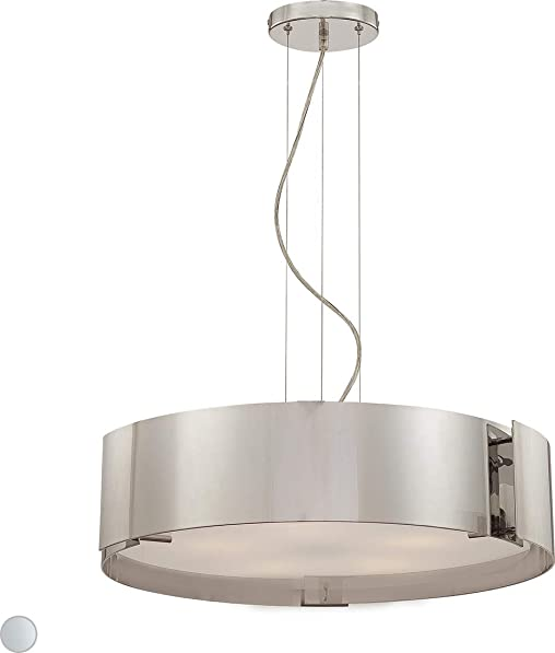 Eurofase 12531-035 Dervish Casted Piastre Glass Drum Pendant Light