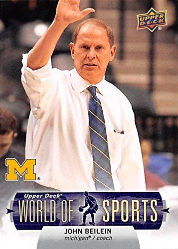 John Beilein Basketball card (Michigan Wolverines NCAA Head Coach) 2011 Upper Deck World Of Sports #79 (Basketball Ncaa Card)